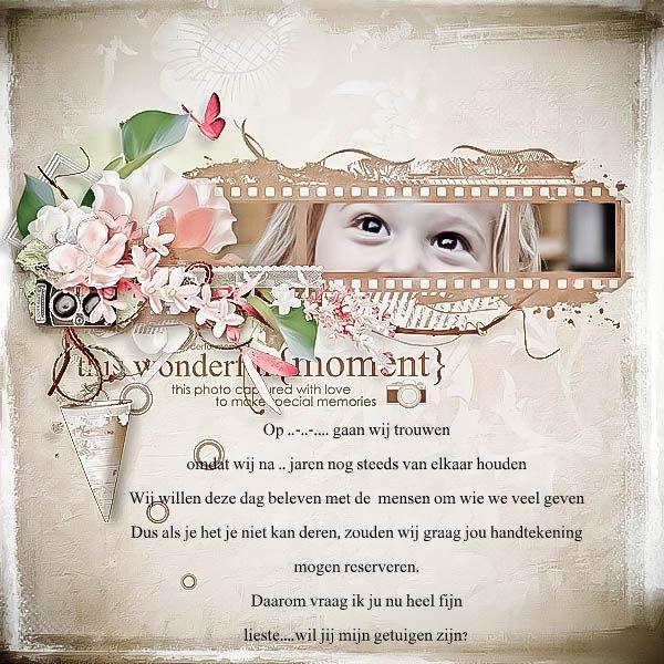 Diy Voor Het Vragen Van Jullie Getuige Jullie Bruiloft